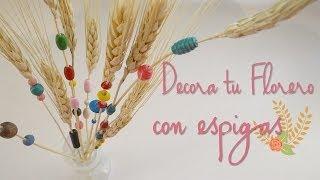 Como decorar un florero (con espigas de trigo) Thumbnail