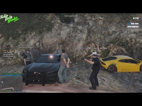 High Speed Police Chase In Lamborghini Huracan Leads To Drug Bust | GTAV Mod RP