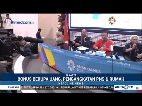 Bonus Pahlawan Asian Games, Peraih Emas : Rp 1,5 M,  Jadi PNS Kemenpora, Rumah Mp3