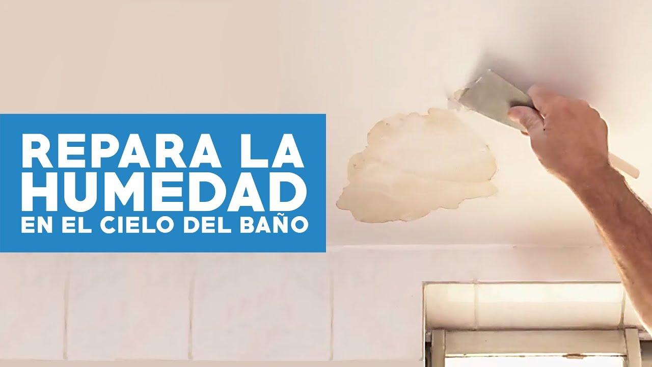 C mo reparar la humedad en el cielo del ba o youtube for Como arreglar la regadera del bano