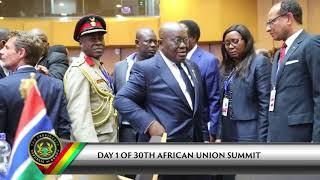 President Akufo-Addo arrives in Ethiopia for 30th AU Summit