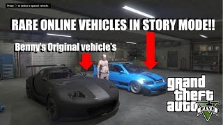 (GTA 5) How to get any online vehicle on storymode!