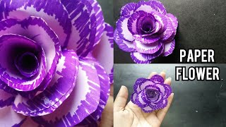 Paper flower tutorial/How to make paper flower Step by step/Paper craffts/Easy paper crafts/crafts