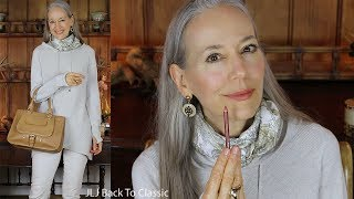 OOTD: Sweater, Scarf, Jeans, Booties; Gift Card Contest Winners / Classic Fashion, Style Over 40