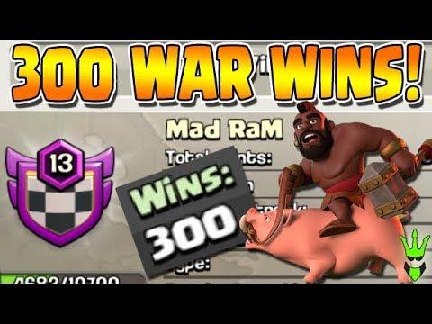 300 WAR WINS!! - Mad RaM War Recap & Recruiting! - Clash of Clans - Level 13 War Clan!
