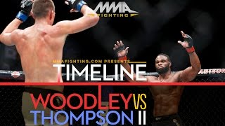 UFC 209: Tyron Woodley vs. Stephen Thompson 2 Timeline