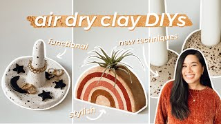 AIR DRY CLAY DIY DECOR *FUNCTIONAL* | Speckled Black Pepper, Air Plant Holder, AESTHETIC Ring Dish