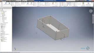 Видеоурок 03.Построение 3D модели пластиковой коробки в AutoCad Invertor