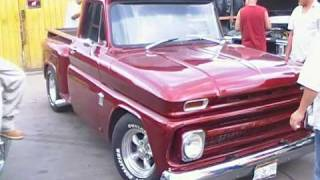 66 Chevy Pick-up burn out