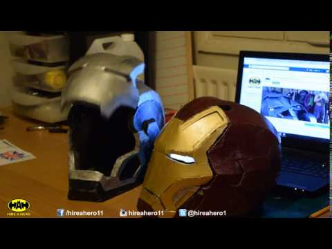 Iron Man and War Machine motorized helmet