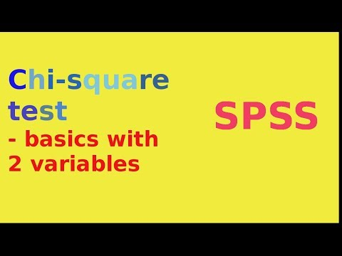 SPSS for newbies: chi square test of independence