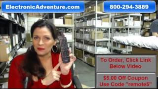 Original Sharp RRMCGA938WJPA Blu Ray Remote Control (GA938WJPA) $5 Off Coupon