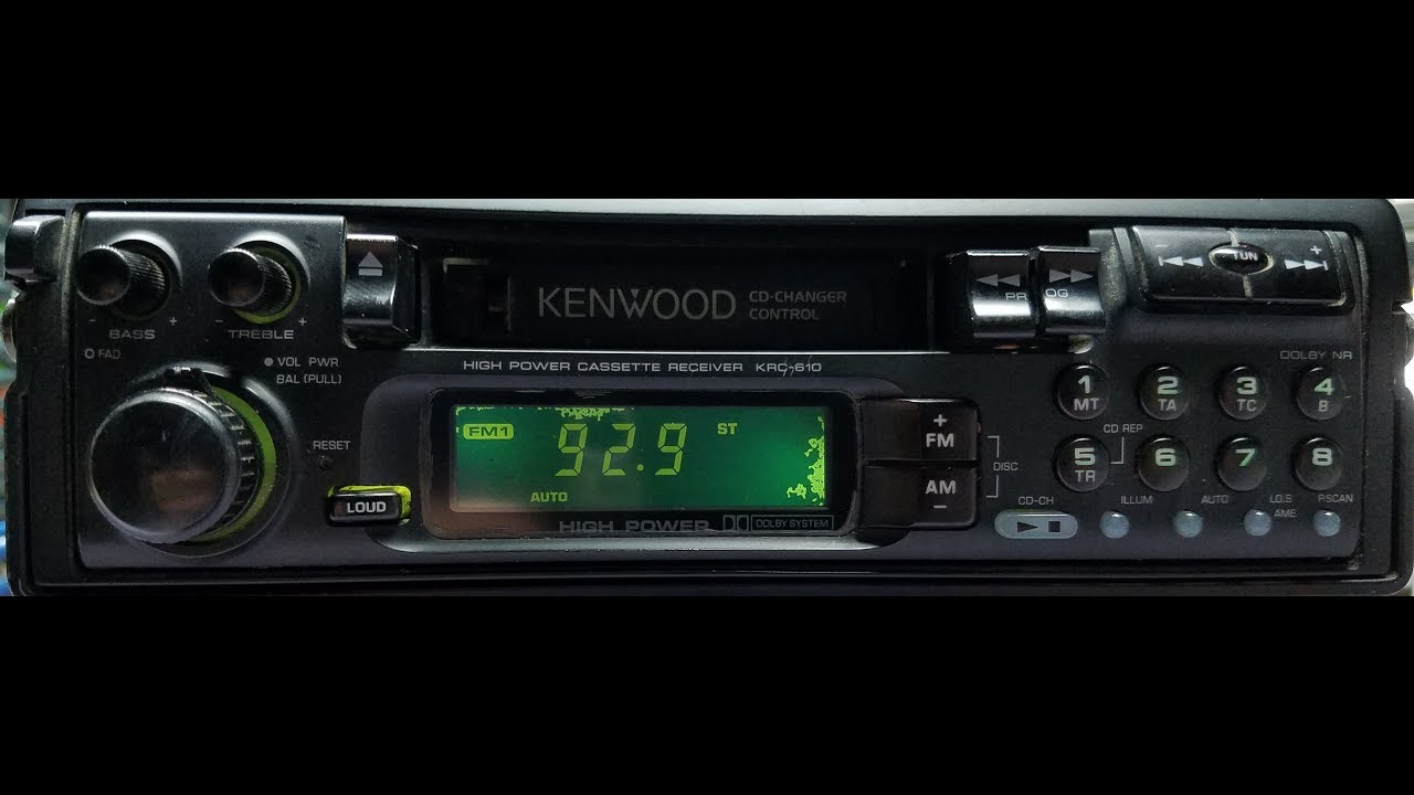 kenwood krc 610 am fm cassette receiver 1992 [ 1280 x 720 Pixel ]