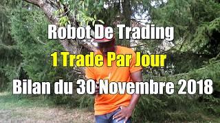 ROBOT DE TRADING MT4    FOREX EA  1 Trade Par Jour   30 Nov 2018