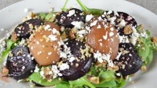 Beet And Poached Pear Salad