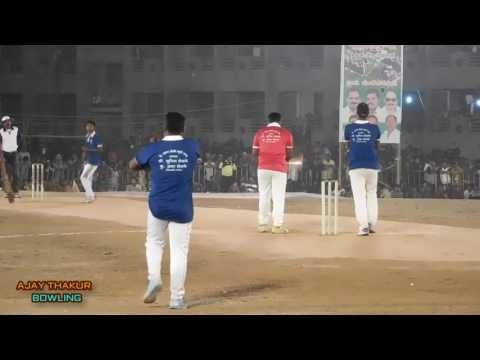 Ajay Thakur | Bowling | in CHINCHVALI night tennis ball cricket Tournament |.