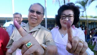 Pairin casts his vote, buoyed by nanogenarian's support