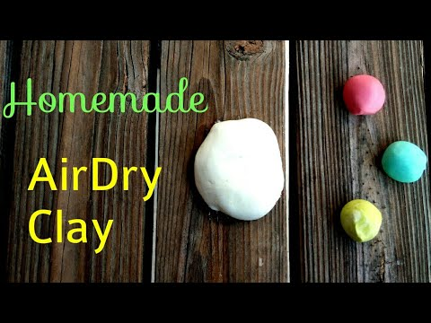 DIY   Homemade Air Dry clay (easy) for Crafts