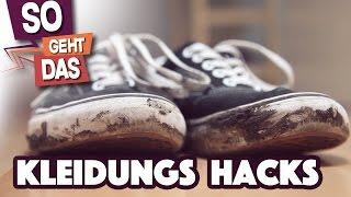 So kriegst du jeden Schuh sauber! - 5 cleveren Kleidungs Hacks