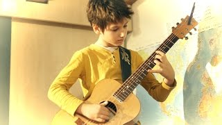 Christmas Medley | fingerstyle arrangement | 11yr old Frano