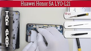 How to disassemble 📱 Huawei Honor 5A LYO-L21 Take apart Tutorial