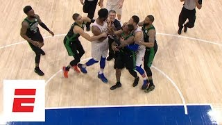 Joel Embiid and Terry Rozier get techs after first-half Celtics-76ers scuffle in Game 4 | ESPN