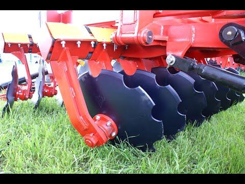 Работа бороны дисковой БДМ КОРТЕС® 7 производства БДТ-АГРО на стойках с эластомерами с трактором К744
