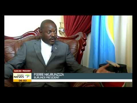 Pierre Nkurunziza talks about the situation in Burundi
