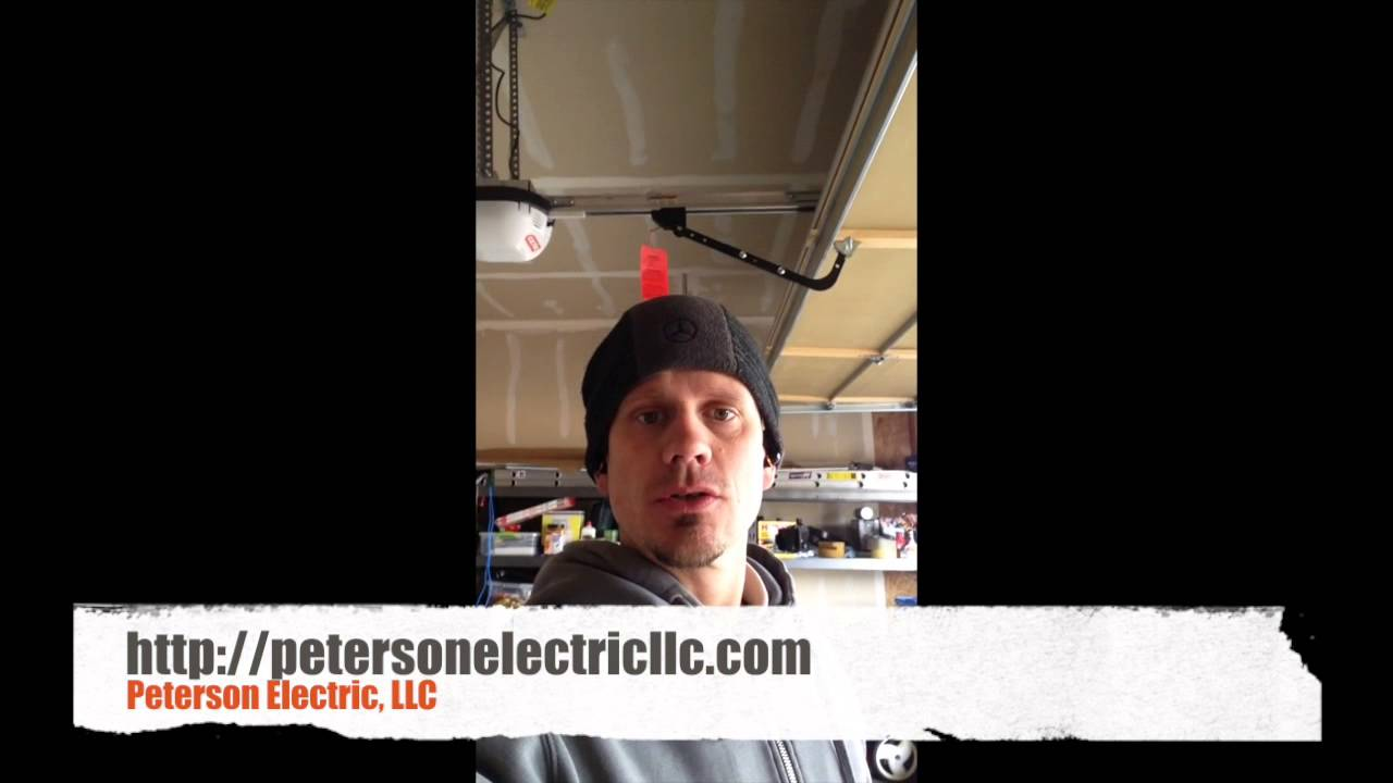 How To Fix A Garage Door Opener That Is Wired With An Extension Cord