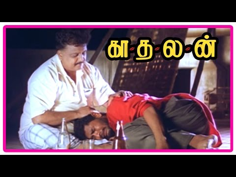 Kadhalan Tamil Movie | Scenes | Prabhu Deva reveals he loves Nagma to SPB | Girish Karnad