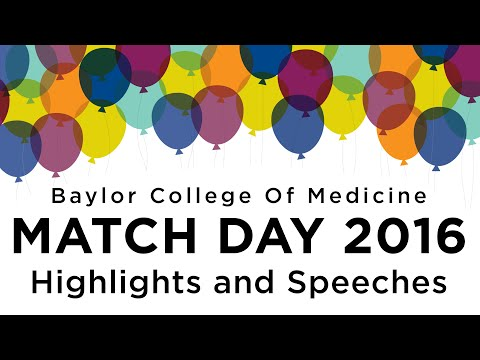 Highlights and speeches from Baylor College of Medicine Match Day 2016