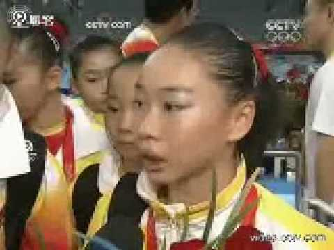Interview of Chinese WAG Team after TF @2008 Beijing Olympic Games