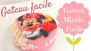 FAIRE UN GATEAU MINNIE - MINNIE CAKE - Red Velvet Cake - GATEAU FACILE