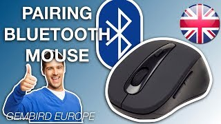 Pairing a Gembird Bluetooth mouse