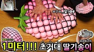 1미터!!! 초거대 딸기송이 만들기ㅋ (브로맨스주의) 츄팝