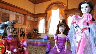 Золушка Мультфильм Выбираем платье на Бал, Мультики куклами Диснея Злая Мачеха и Дочка