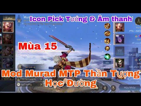 Mod Skin Murad M-TP Thần Tượng Học Đường Full Hiệu Ứng , Âm Thanh Chuẩn Liên Quân Mobile