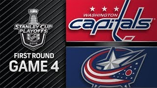 NHL 18 PS4. 2018 STANLEY CUP PLAYOFFS FIRST ROUND GAME 4 EAST: CAPITALS VS BLUE JACKETS. 04.19.2018!
