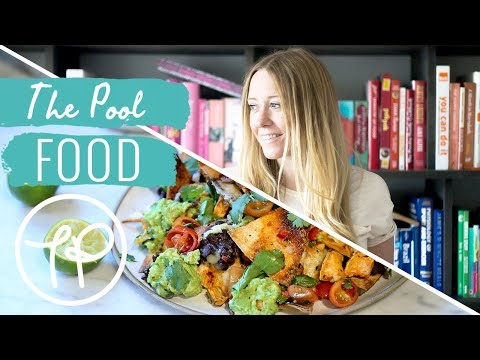Anna Jones' Simple Suppers | Sweet Potato Nachos Traybake Recipe | Food Honestly | The Pool