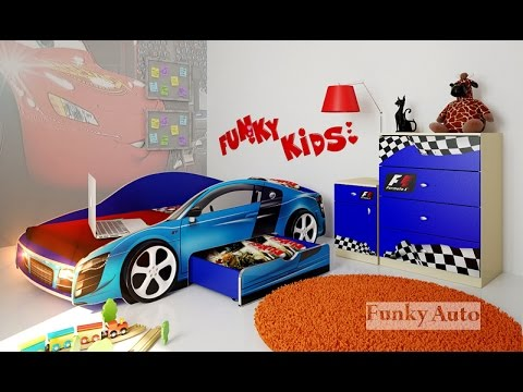 Сборка кровати машины Фанки Кидз - YouTube