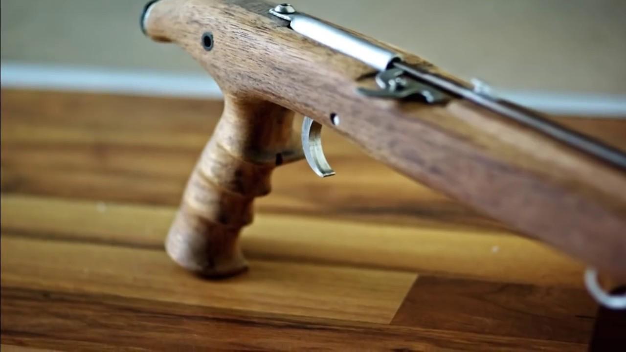 Wooden Speargun Homemade - Part 2 - YouTube