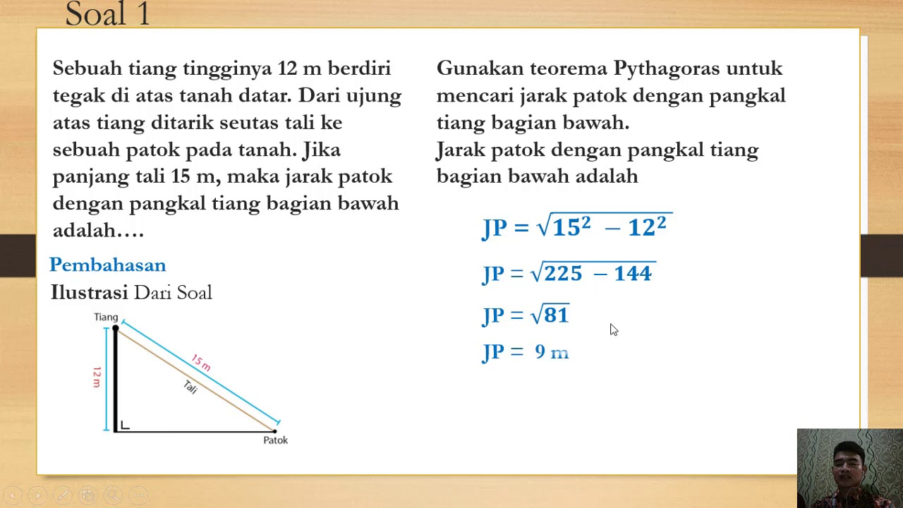 Belajar Menyelesaikan Soal Teorema Pythagoras Soal Un Dan Soal Cerita Youtube