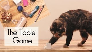 What will the cat knock off the table?