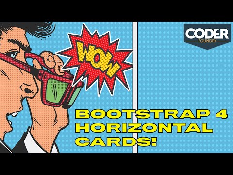 Horizontal CSS Cards With HTML, CSS, And Bootstrap 4!