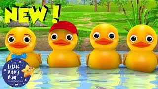 Counting Animals for Kids   Counting Ducks Song   Baby Cartoons   Little Baby Bum