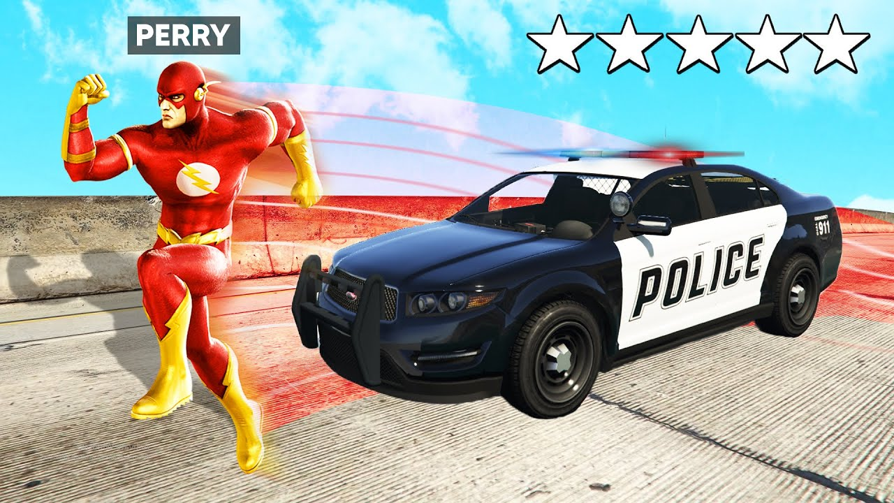 Playing GTA 5 As THE FLASH ! (Justice League Superhero)