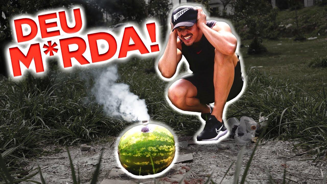 EXPLOD1 UMA MELANCIA E QUASE MORR1* !!!