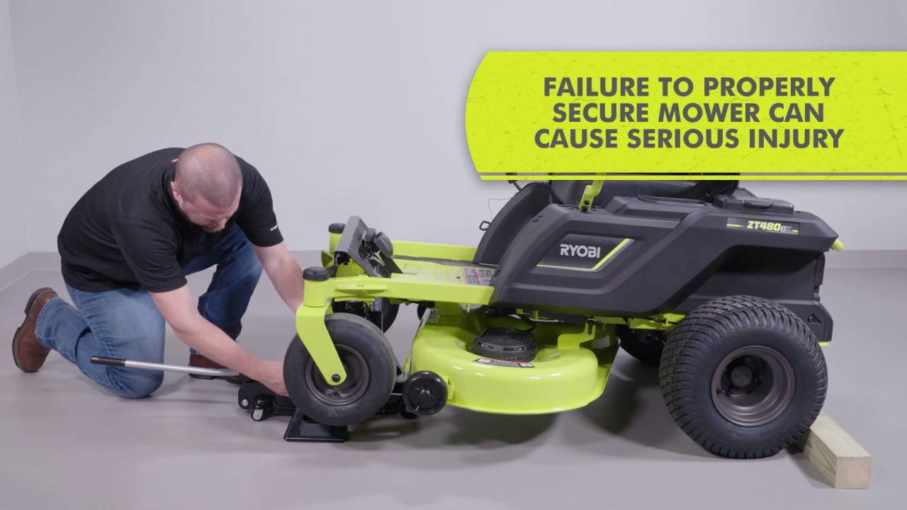 how to: electric zero turn riding mower blade install