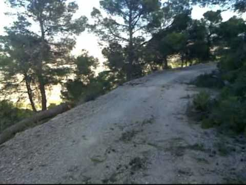 Descenso en bici de montaña de las antenas de la Sierra de Ricote 2