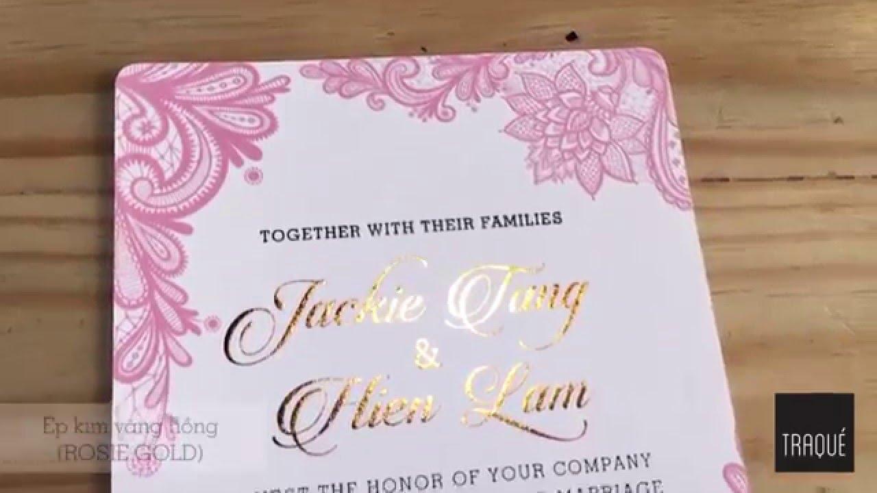 Rosie Gold Foil Stamp Wedding Invitation Traqu Wedding Paper